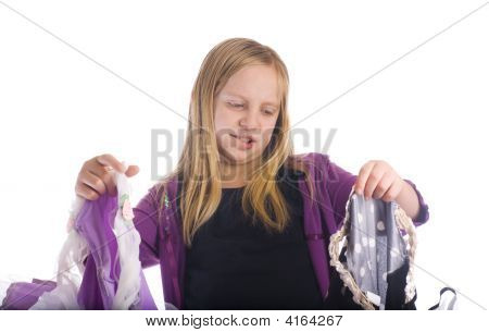 Girl Choosing Costume