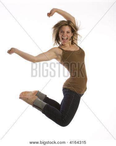 für Freude springen