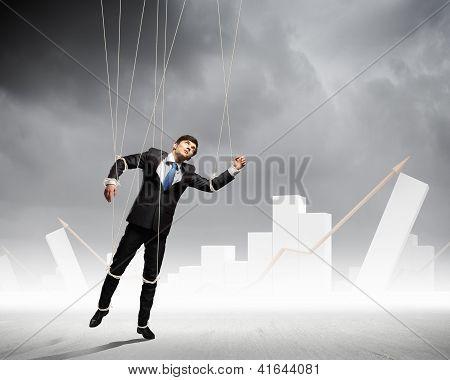 Puppet businessman