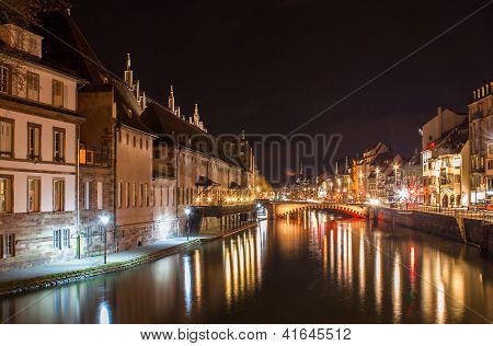 Ill River In Strasbourg - Alsace, France
