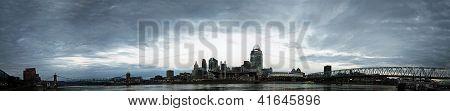 Editorial Panorama Of Cincinnati Ohio