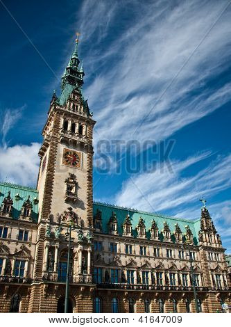 city hall of Hamburg