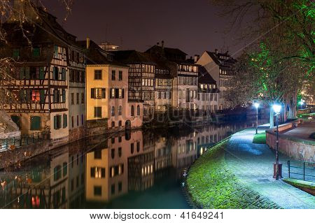 Canal In Petite France Area, Strasbourg, Alsace - France
