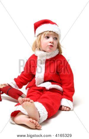 Xmas Child Isolated On White