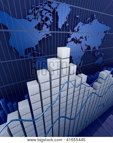 Financial graph statistic. Business stat background
