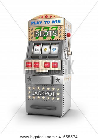 A slot machine, gamble machine