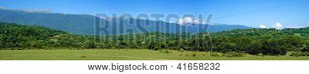 The mountains of Abkhazia. Panorama