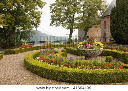 A  Scenic View In Mont Sainte-odile Abbey In France