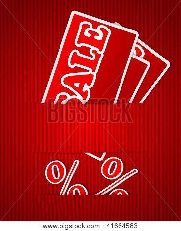 Tags venda ou desconto para lista de preços