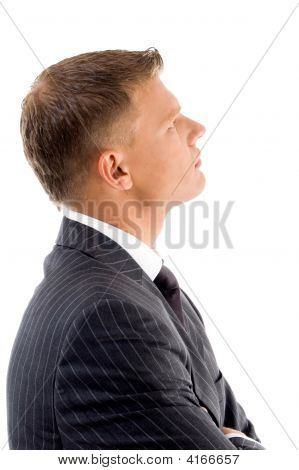 Side View Of Handsome Lawyer