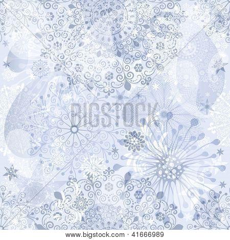 Christmas Silvery Seamless Pattern