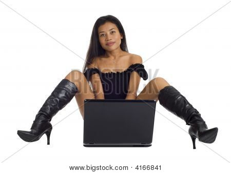 Asian With Laptop