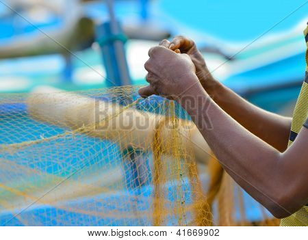Fisherman Sets Of Fishing Gear