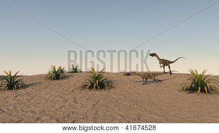 coelophysis on sand terrain