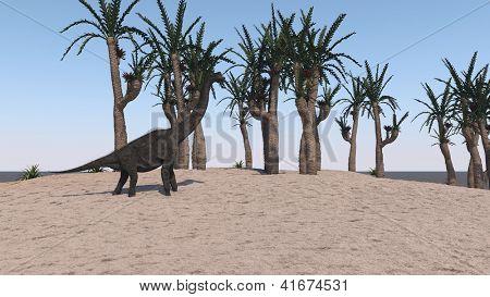 brachiosaurus on send terrain