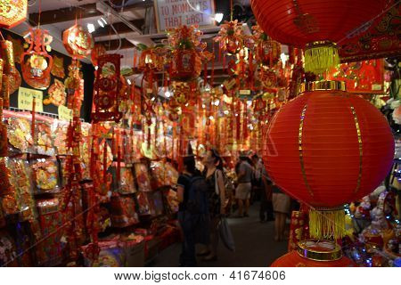 Shopping For Chinese New Year Decoration