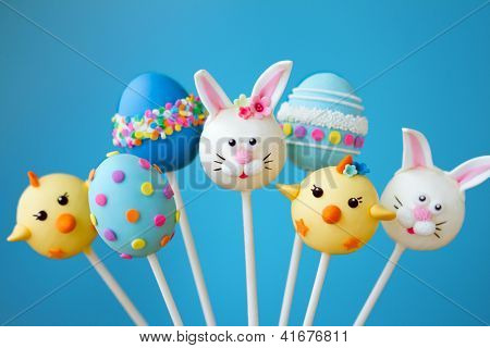 Cake pops with an Easter theme