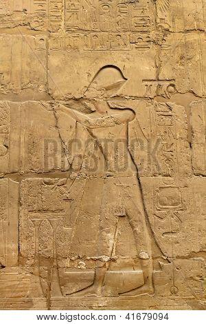 Hieróglifos e imagens do antigo Egito