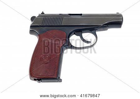 Russo 9mm Handgun isolado no fundo branco