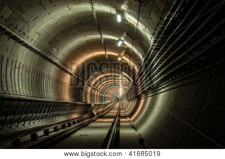 Underground facility with a big tunnel leading deep down