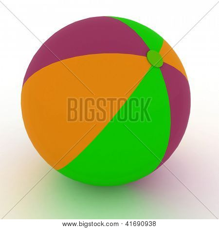 ball toy over white background