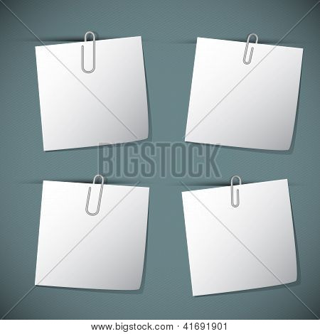 Note Papers With Paperclip