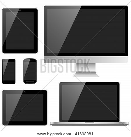 Electronic Devices with Black Screens