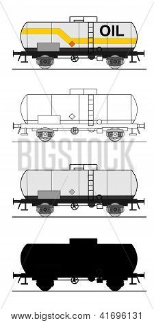 A Illustration Of Small Cistern Car