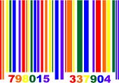 stock photo of queer  - Vector illustration of a gay pride flag barcode - JPG