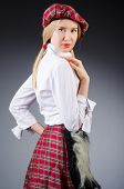 picture of kilt  - Scottish traditions concept with person wearing kilt - JPG
