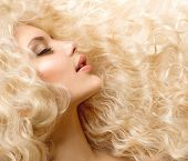 stock photo of perm  - Curly Hair - JPG