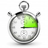 stock photo of countdown timer  - 15 seconds stop watch - JPG