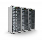 stock photo of mainframe  - Server grid or render farm - JPG