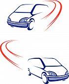 Постер, плакат: Быстрый автомобиль на дороге