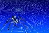 picture of webcrawler  - 3d render of a webcrawling cyber - JPG