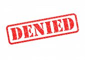 stock photo of denied  -