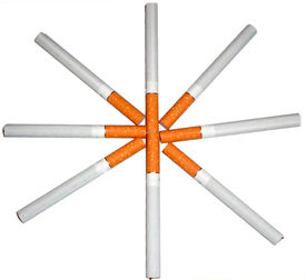stock photo of marlboro  - a group of cigarettes in circle for smoking - JPG