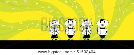 little kids Singing -facebook cover