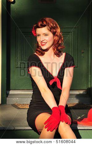 Retro Redhead Beauty