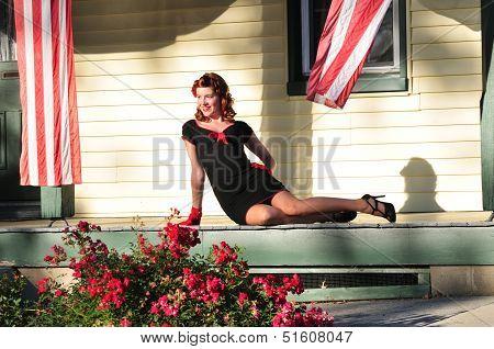 Beautiful Redhead Pinup Girl