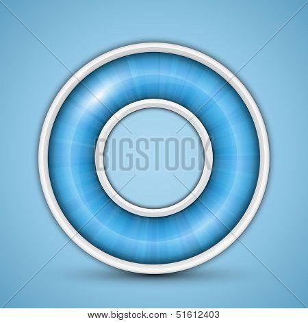 Blue circular progress bar. Vector illustration of round progress bar