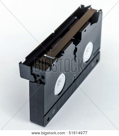 Vhs Cassette With Magnetic Film