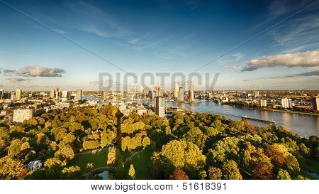 The Skyline Of Rotterdam, The Netherlands