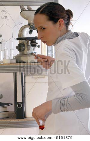 Chemist Steals Flask