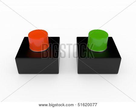 Alarm pushbutton, 3D