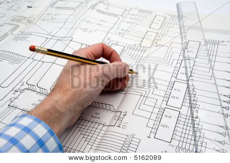 Engineer Working On A Project