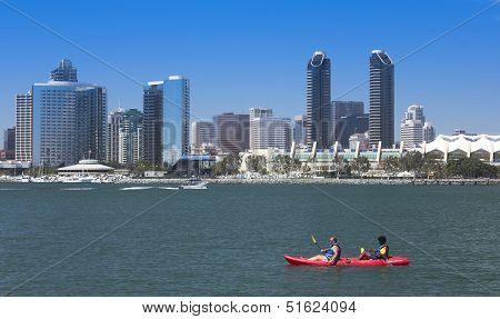 A Kayak's View Of San Diego Bay And Downtown