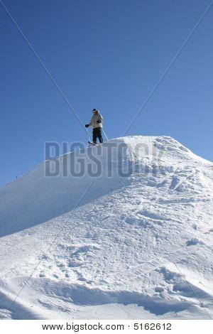 Skier Getting Ready