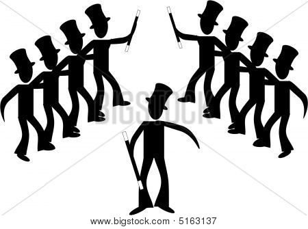 Broadway Male Line Dancers...