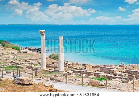 Columns By The Shore
